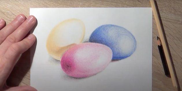 Рисунки на Пасху: пасхальные яйца