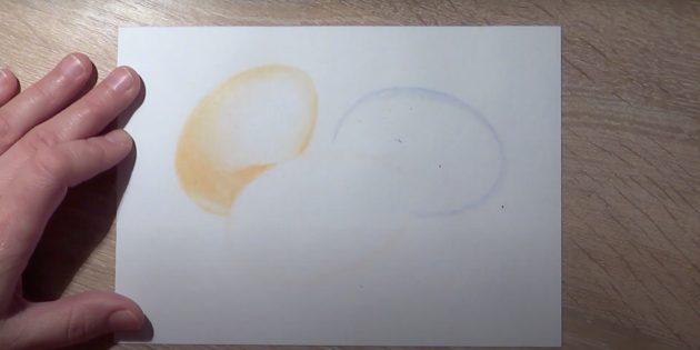 Рисунки к Пасхе: заштрихуйте яйцо слева
