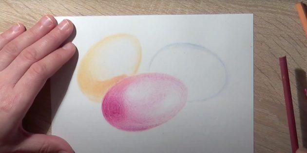 Рисунки на Пасху: закрасьте центральное яйцо