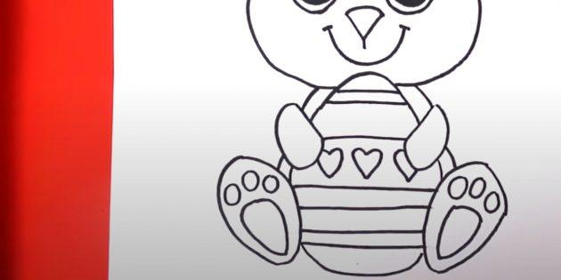 Рисунки на Пасху: нарисуйте яйцо