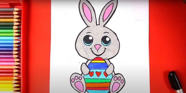 Рисунки на Пасху: Раскрасьте рисунок