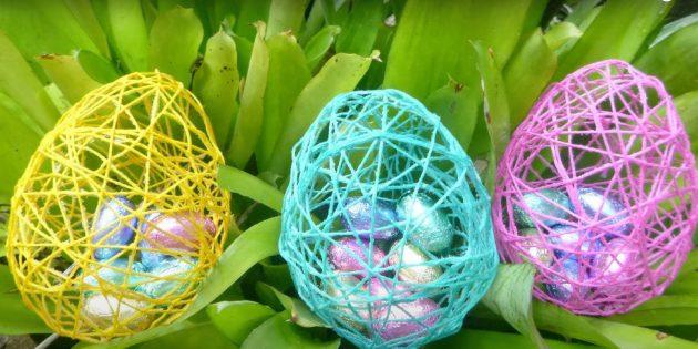 Поделки на Пасху своими руками: яйцо из ниток
