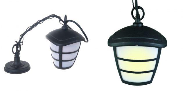 Подвесной садовый светильник