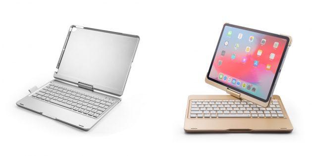 Беспроводные клавиатуры: клавиатура для iPad с поворотной крышкой