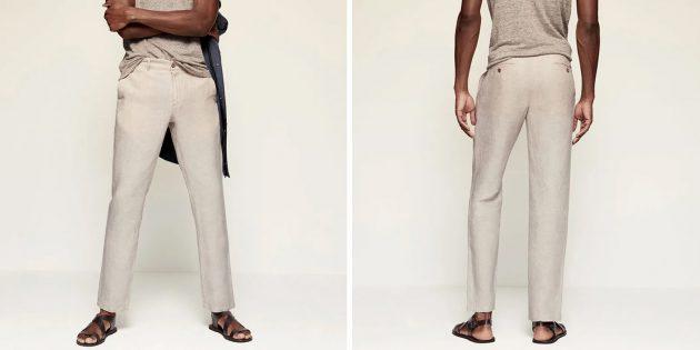 Мужская одежда casual: брюки Mango Man