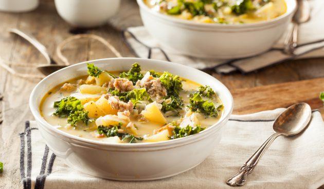 Суп с фаршем в тосканском стиле