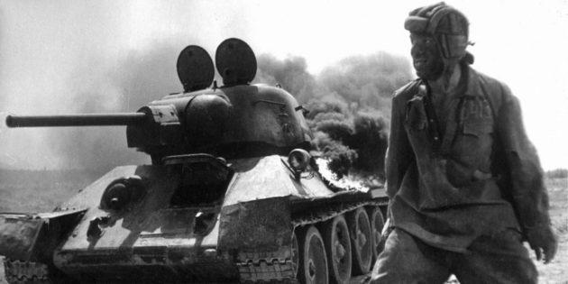 Кадр из фильма про танки «Жаворонок»