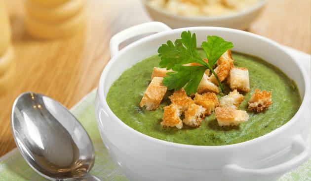 Простой крем-суп из шпината