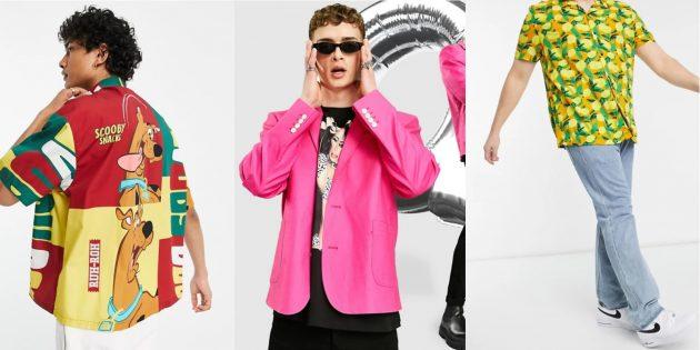 Мужская мода весны-2021: яркие рубашки и пиджаки