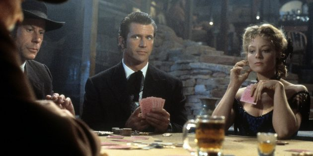 Кадр из фильма про покер «Мэверик»