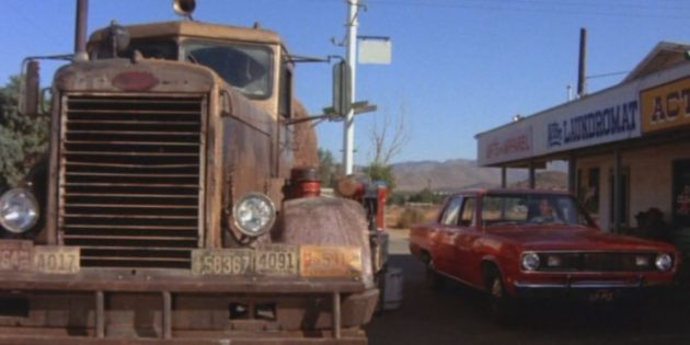 Кадр из фильма про автомобили «Дуэль»