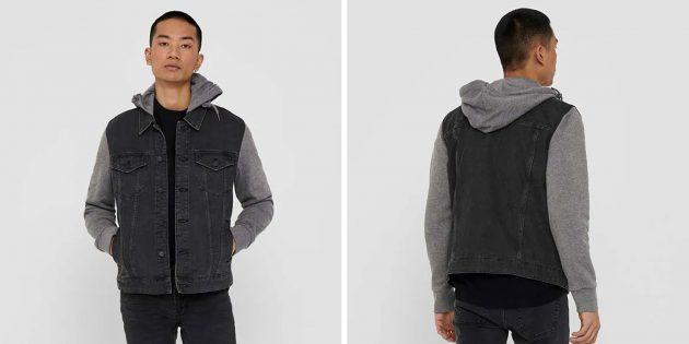 Мужская одежда casual: джинсовая куртка Only & Sons