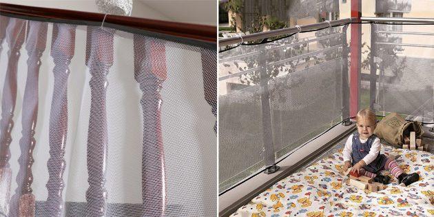 Как обеспечить безопасность детей дома: защитная сетка для балкона