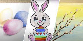 29 милых рисунков к Пасхе, с которыми справится даже ребёнок