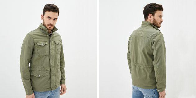 Мужская одежда casual: куртка в стиле сафари O'stin
