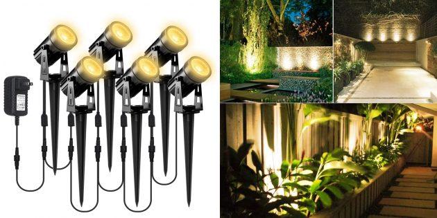 Грунтовые садовые светильники