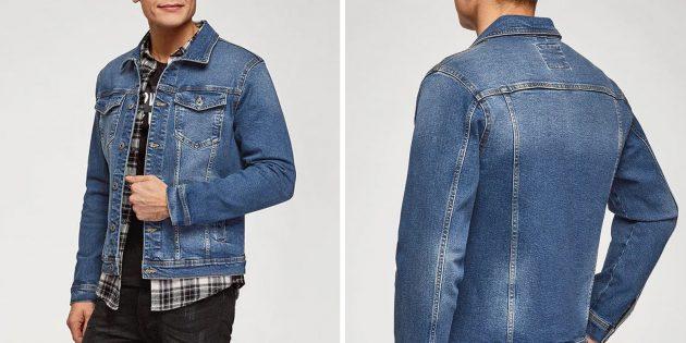 Мужская одежда casual: джинсовая куртка oodji
