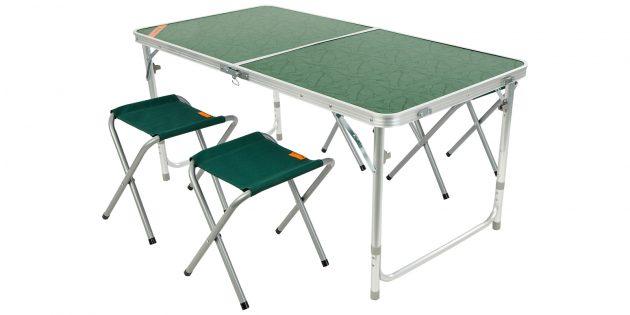 Набор: раскладной стол и складные стулья