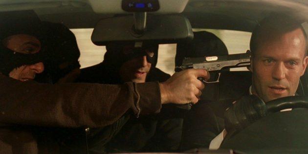 Кадр из фильма про машины «Перевозчик»