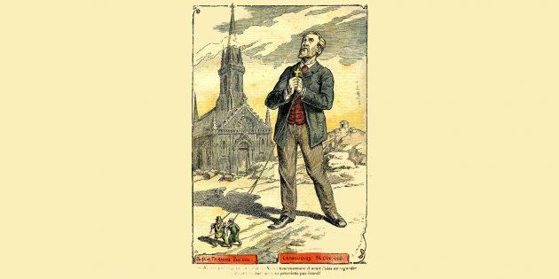 Кто такие масоны: карикатура Ахилле Лемота в журнале Le Pèlerin, 1902год