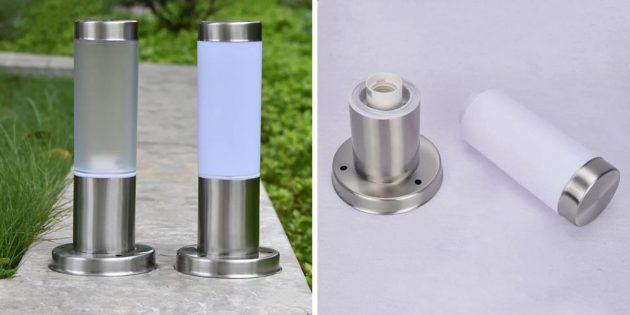 Садовый светильник с матовым плафоном