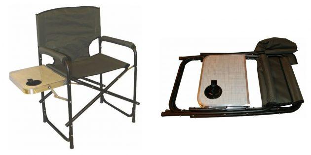 Складной стул — кресло со столиком