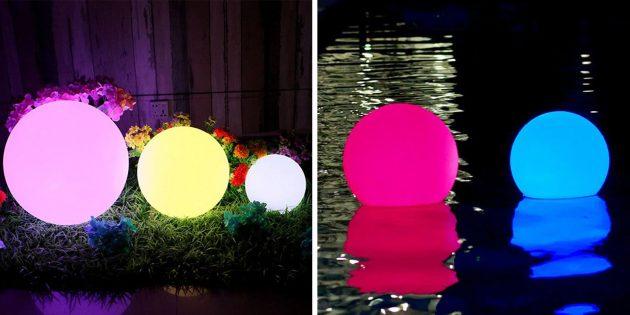 Водонепроницаемый садовый светильник — шар