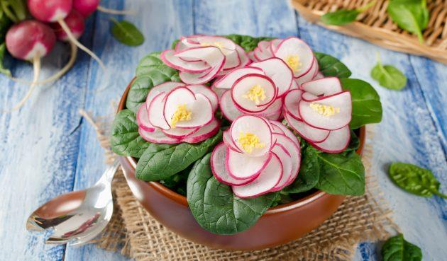 Удивительно красивый салат «Фиалка»
