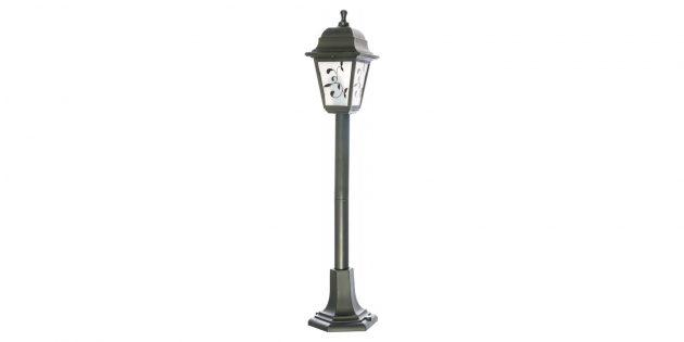 Садовый светильник‑столб в ретростиле