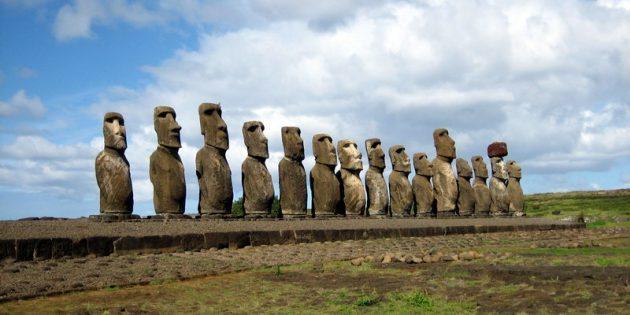 Тайны мира: моаи на острове Аху Тонгарики