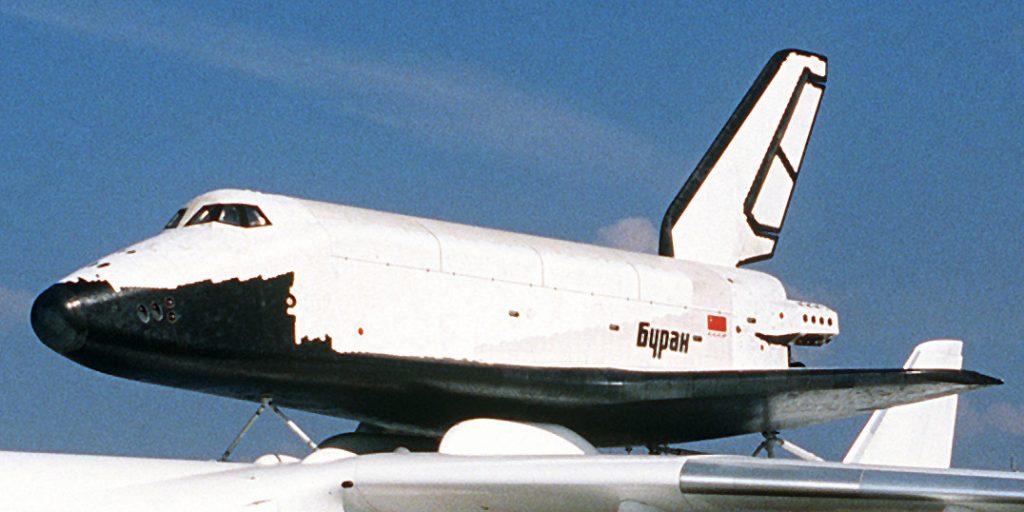 «Буран» на аэрокосмической выставке в Ле-Бурже, 1989год