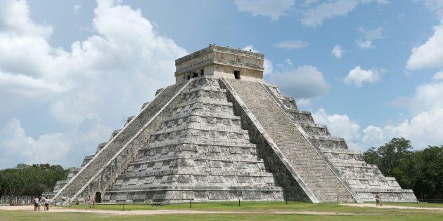 Тайны мира: Эль Кастиль, пирамида бога Кукулькана в Чичен-Ице, Юкатан