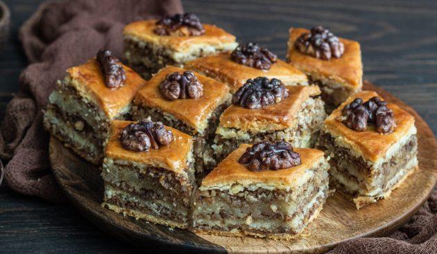 Пахлава с грецкими орехами