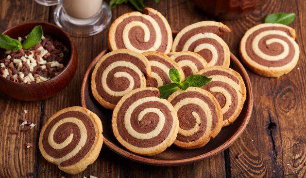 Ванильно-шоколадное печенье «Серпантин»