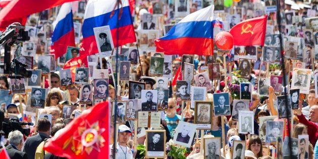 Бессмертный полк в Севастополе, 2015год