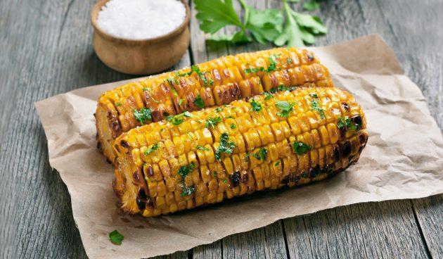 Кукуруза в остром соусе на гриле