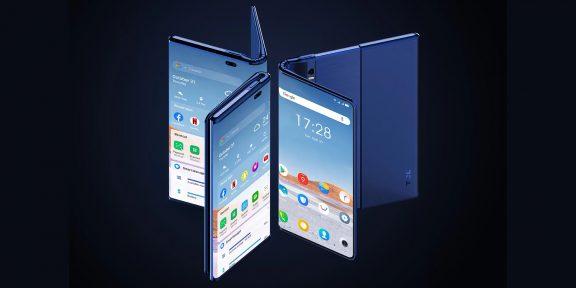 И сгибается, и раздвигается: TCL показала уникальный смартфон-планшет Fold 'n Roll
