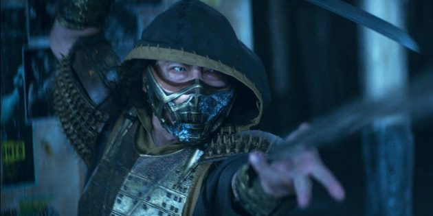 Хироюки Санада в роли Скорпиона в фильме «Мортал Комбат» 2021 года