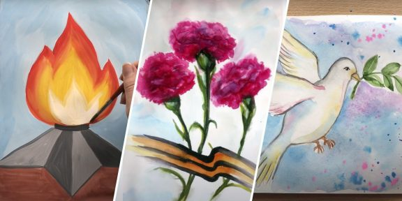 18 рисунков к 9 Мая, которые легко повторить каждому
