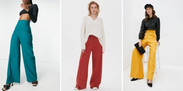 Женская мода весны-2021: широкие мешковатые брюки