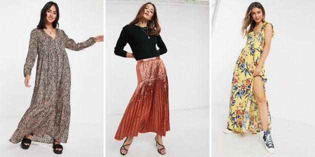 Женская мода весны-2021: макси-платья и юбкис широким подолом