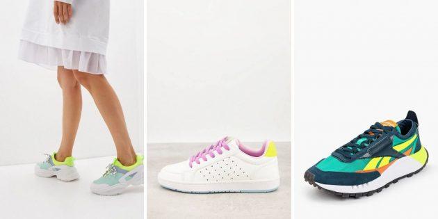 Модные женские кроссовки — 2021: модели в расцветке колор-блок