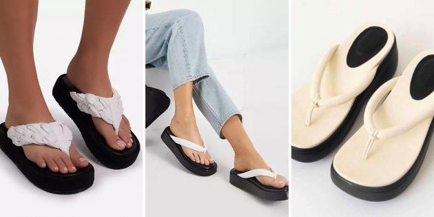 Модная женская обувь весны-лета — 2021: шлёпанцы в японском стиле
