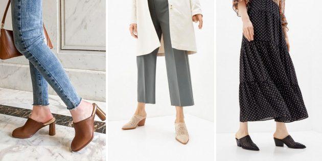 Модная женская обувь — 2021: сабо