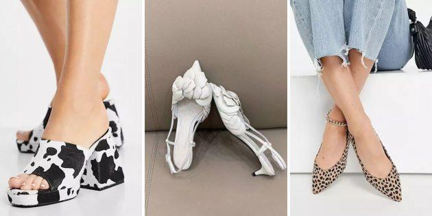 Обувь с принтом или декором в природном стиле