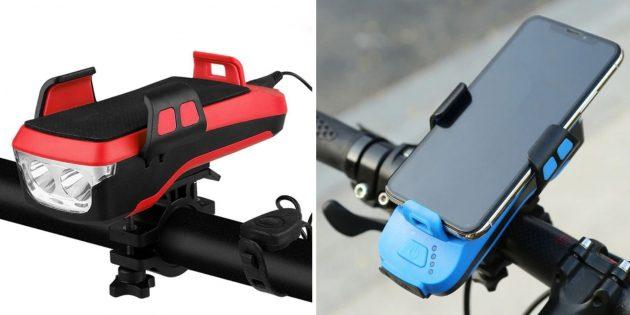 Фонарь для велосипеда с держателем