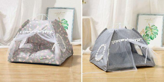 Домики для кошки: в виде палатки