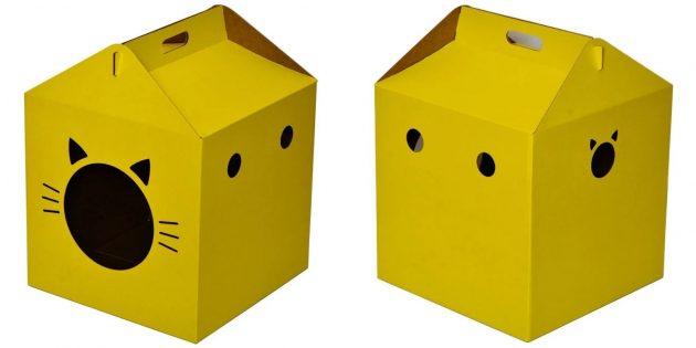 Домики для кошки: в виде коробки