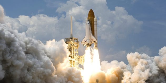 Полёты в космос: взлёт шаттла «Атлантис»