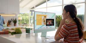 Apple показала новый iMac на M1 в семи цветах